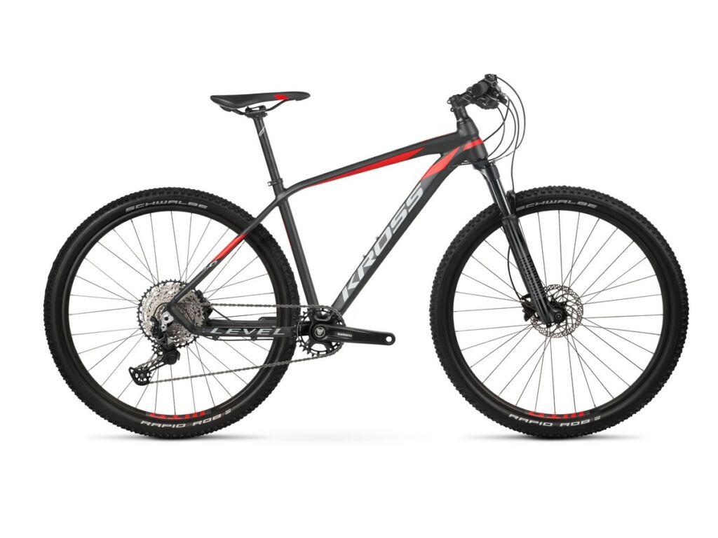 "KROSS Level 8.0 2021 29"" MTB XC kerékpár, black / red / graphite"