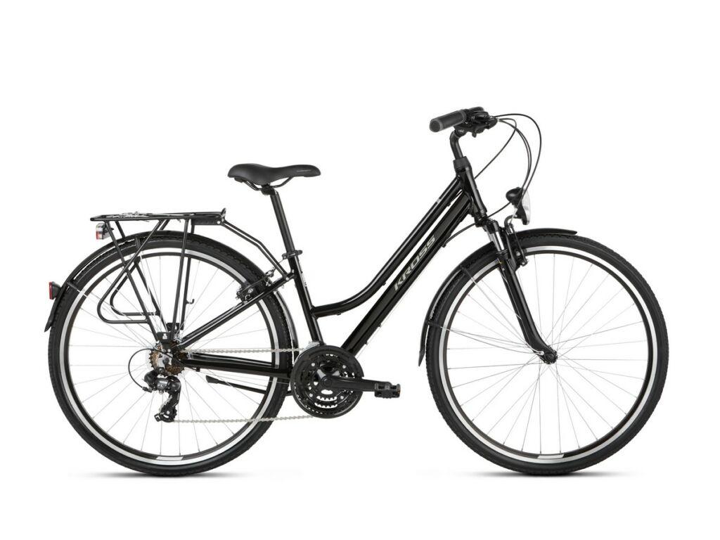 "KROSS Trans 1.0 D 2021 28"" női trekking kerékpár, white / grey"