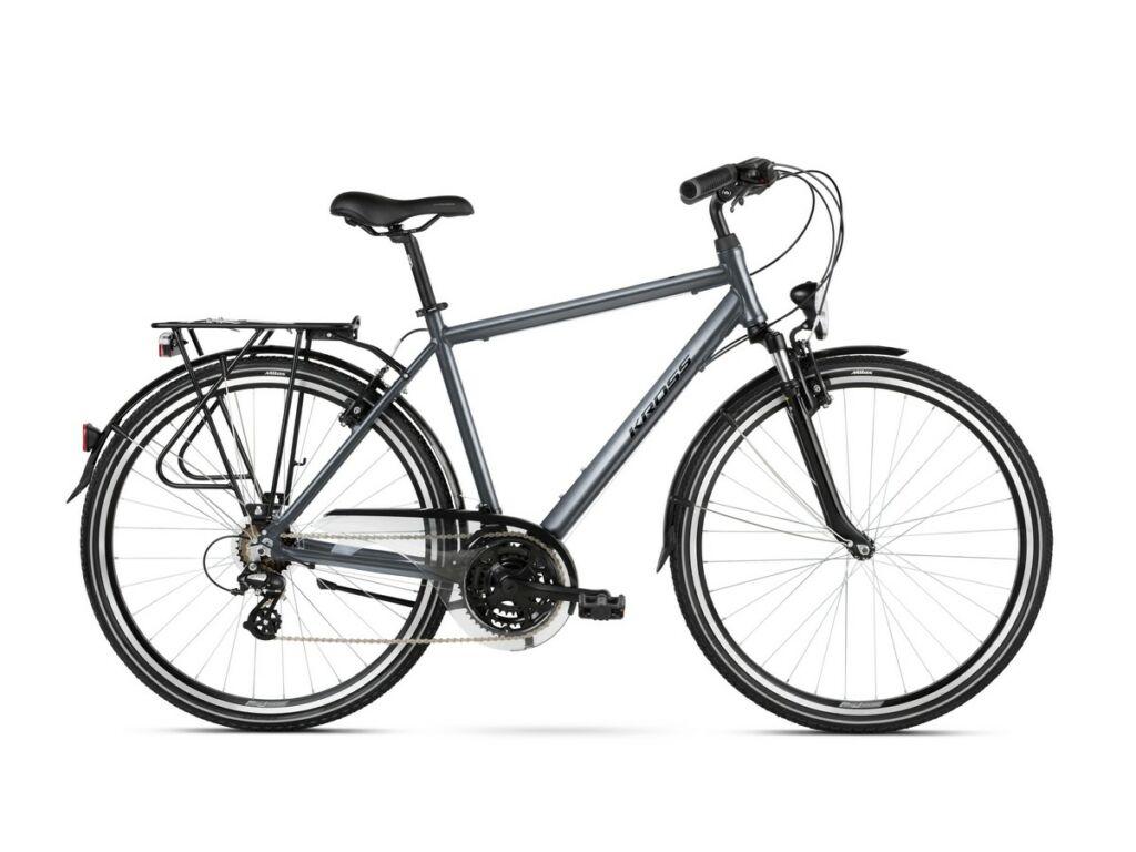 KROSS Trans 2.0 M 2021 férfi trekking kerékpár, graphite / black