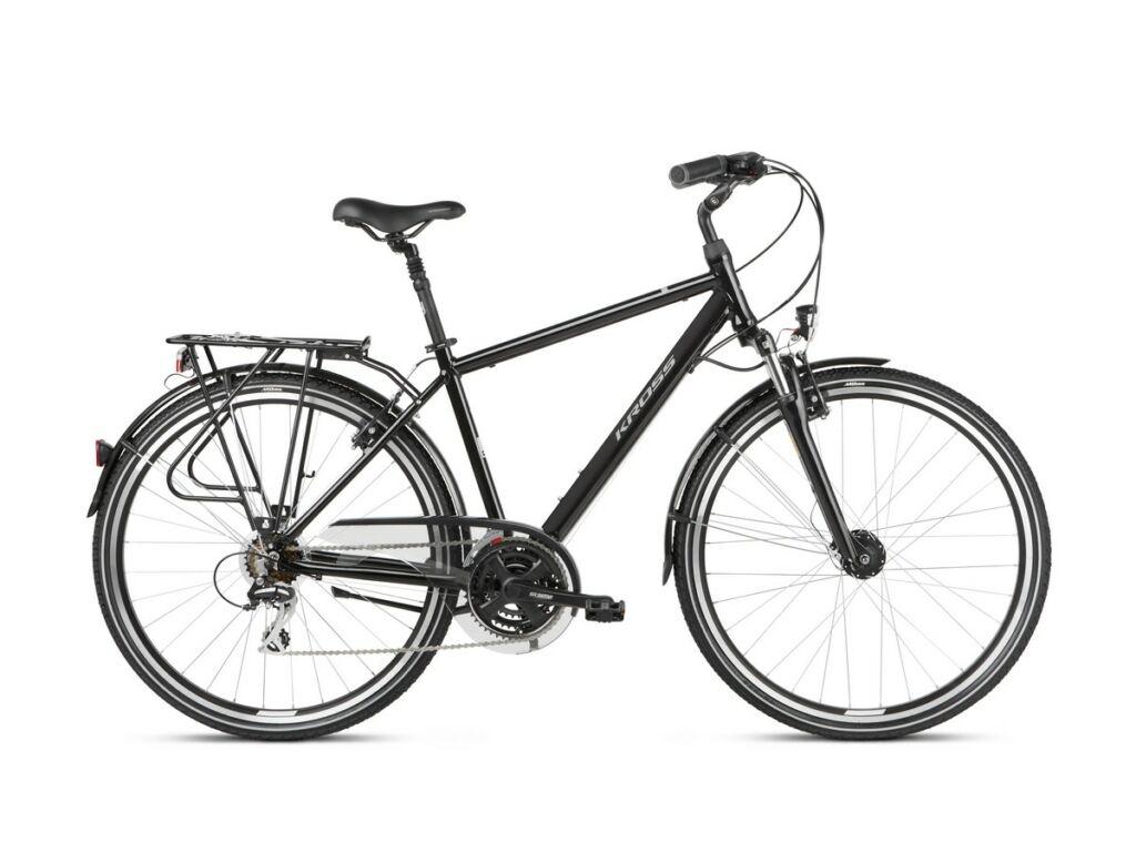 """KROSS Trans 3.0 M 2021 28"""" férfi trekking kerékpár, black / grey"""
