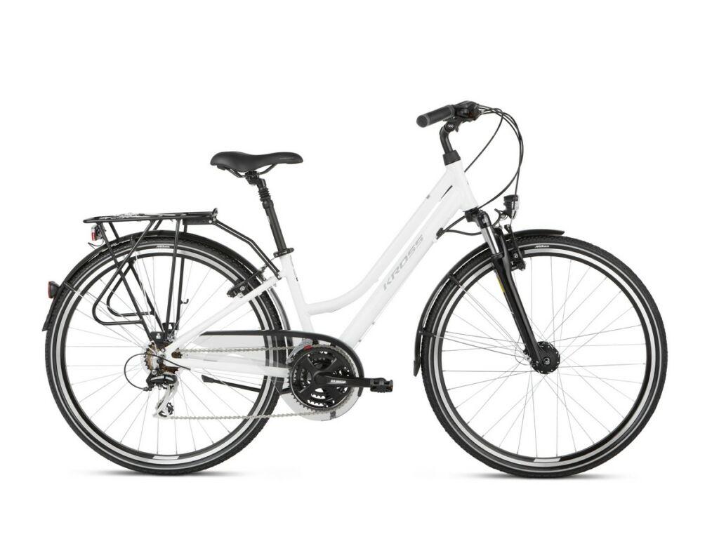 "KROSS Trans 3.0 D 2021 28"" női trekking kerékpár, white / grey"