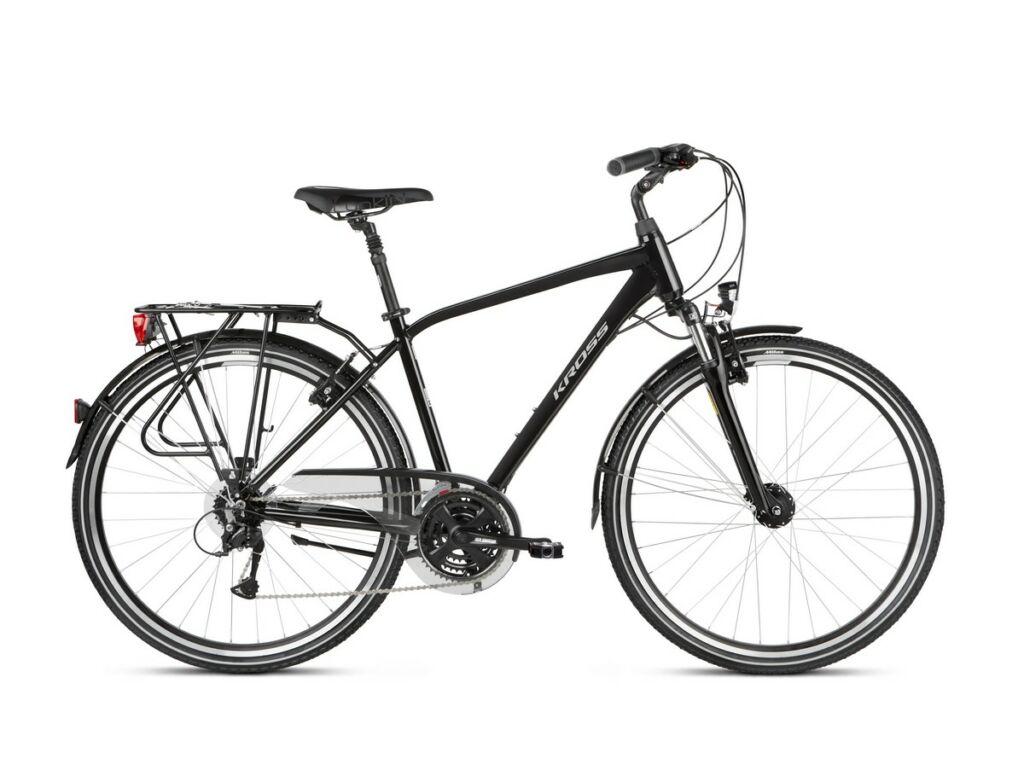 """KROSS Trans 4.0 M 2021 28"""" férfi trekking kerékpár, black / grey"""