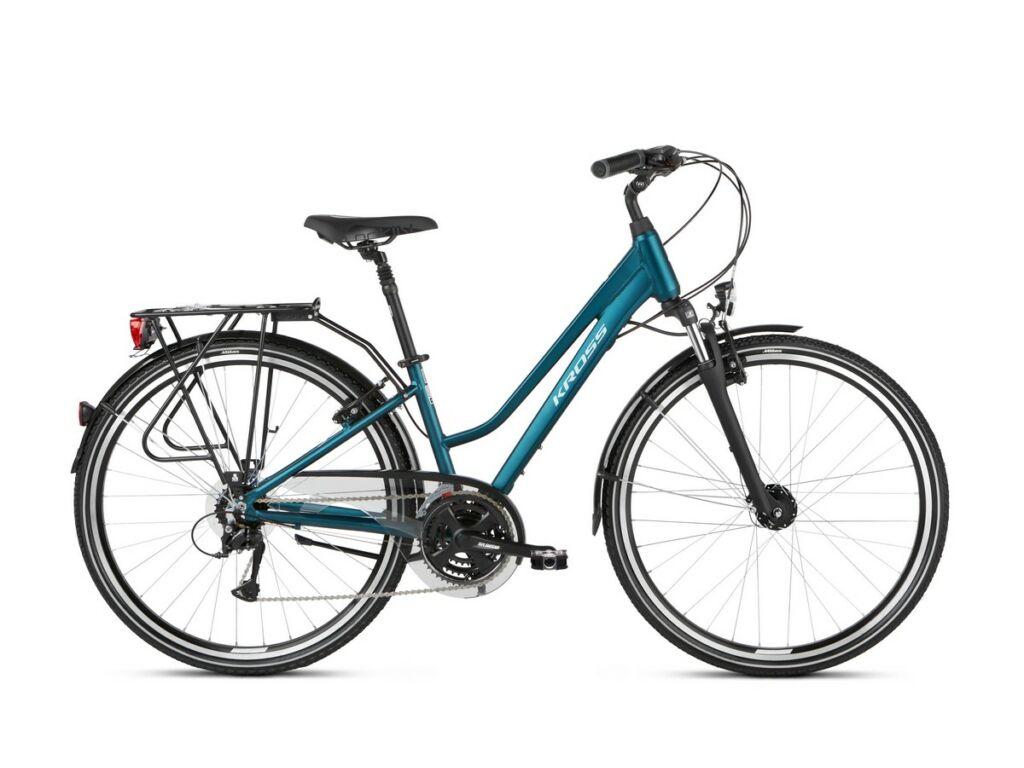"KROSS Trans 4.0 D 2021 28"" női trekking kerékpár, turquoise / black"