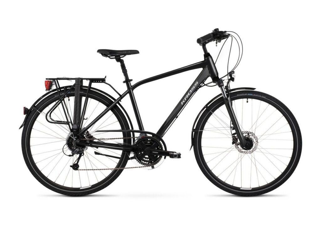 """KROSS Trans 5.0 M 2021 28"""" férfi trekking kerékpár, black / grey"""