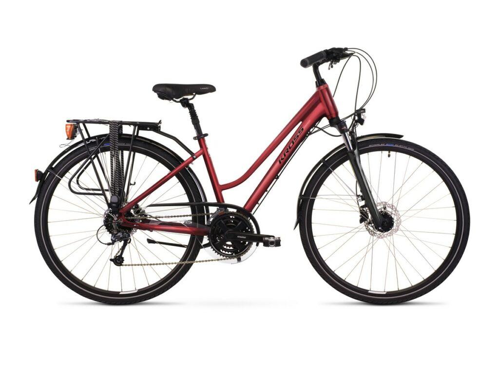 """KROSS Trans 5.0 D 2021 28"""" női trekking kerékpár, ruby / black"""