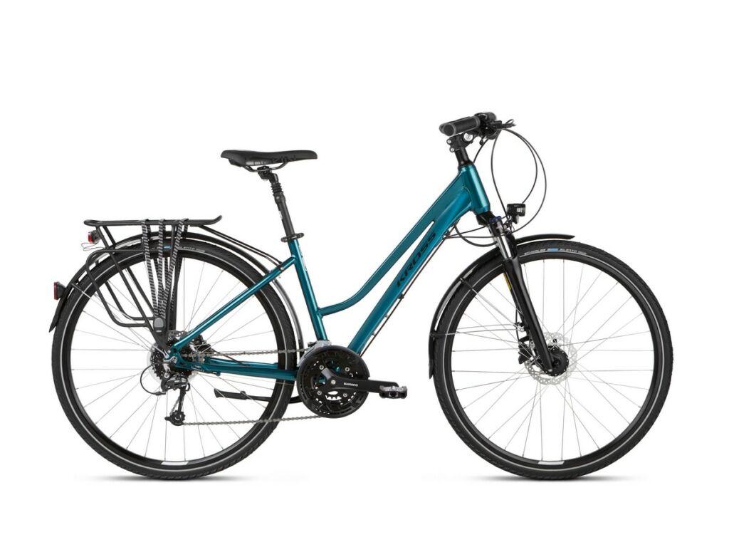 "KROSS Trans 8.0 D 2021 28"" női trekking kerékpár, turquoise / black"