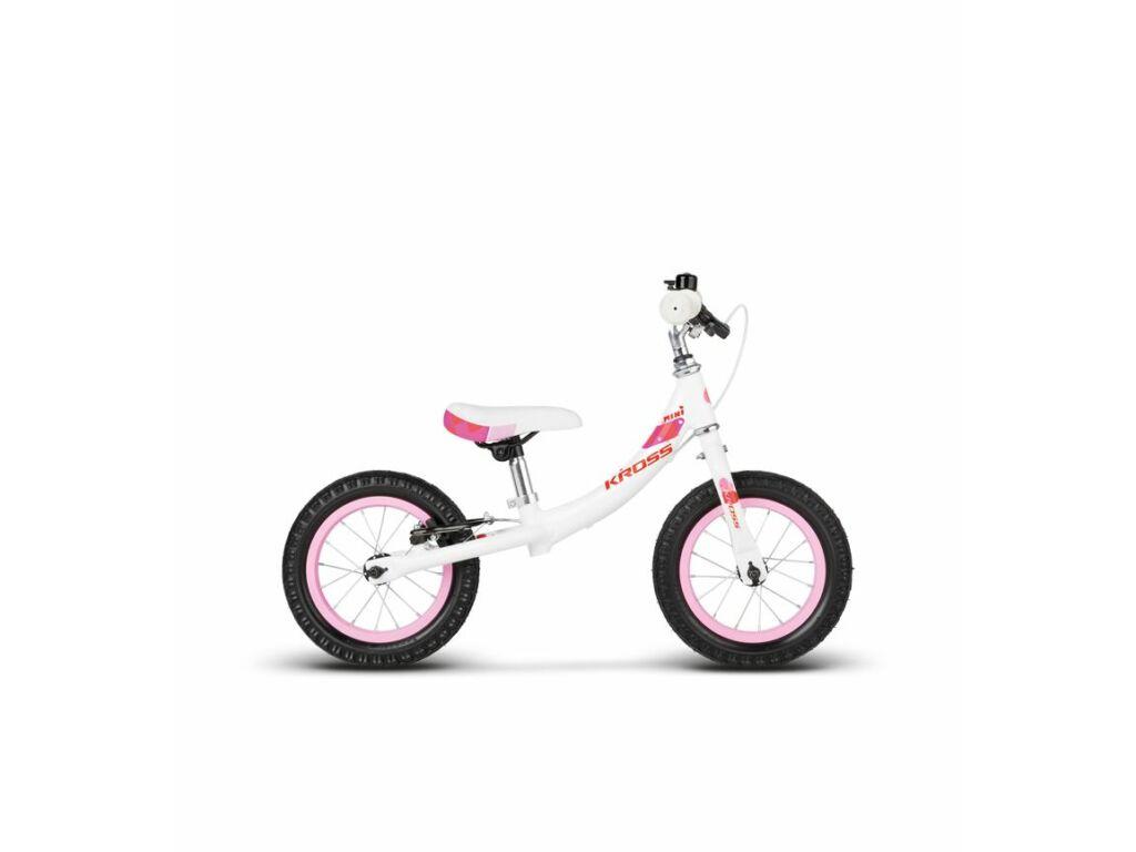 KROSS MINI 12 gyermekkerékpár, fehér / rózsaszín