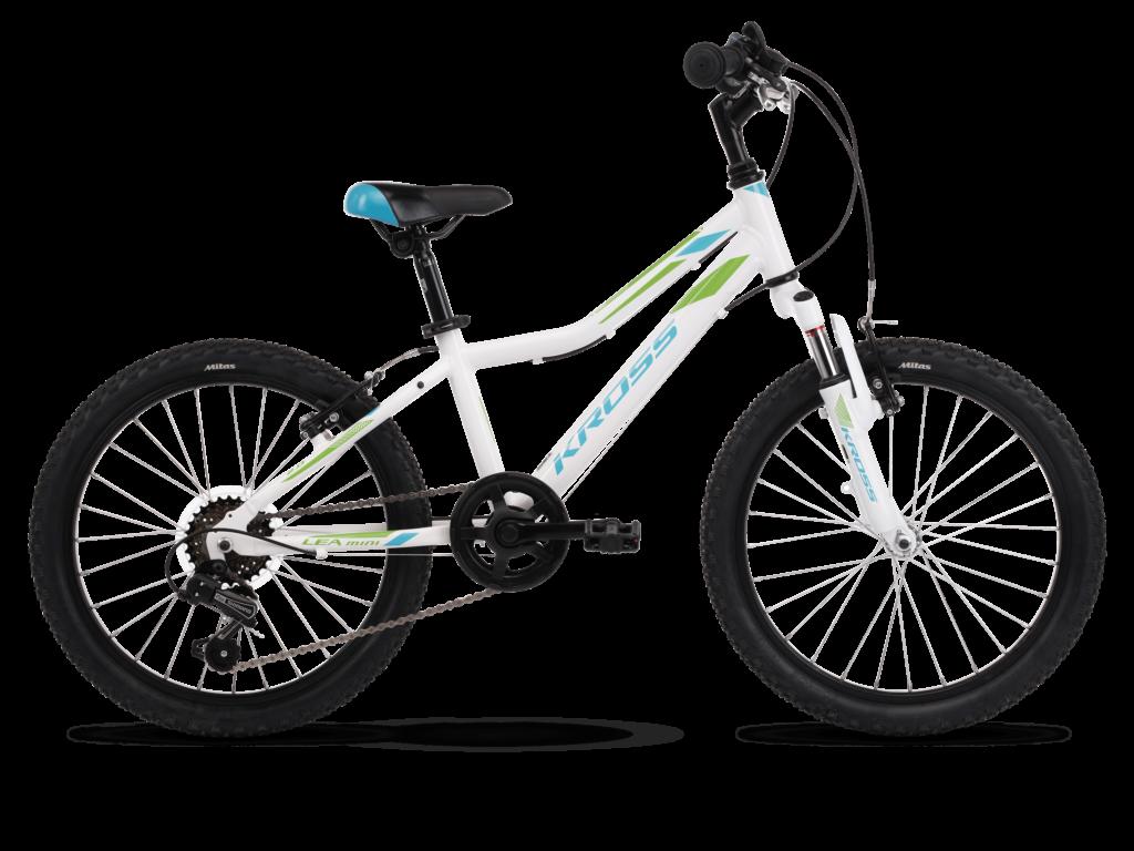 """KROSS LEA MINI 2.0 OS (11"""") gyermekkerékpár, fehér / türkiz"""