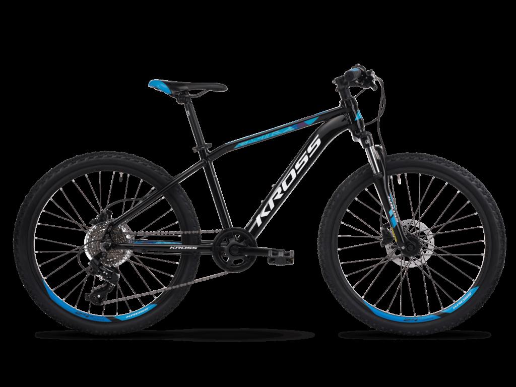 """KROSS LEVEL JR TOKYO OS (14"""") gyermekkerékpár, fekete / kék"""