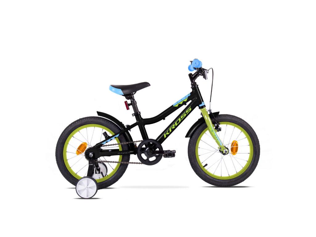 """KROSS RACER 3.0 OS (10"""") gyermekkerékpár, fekete / neonzöld"""