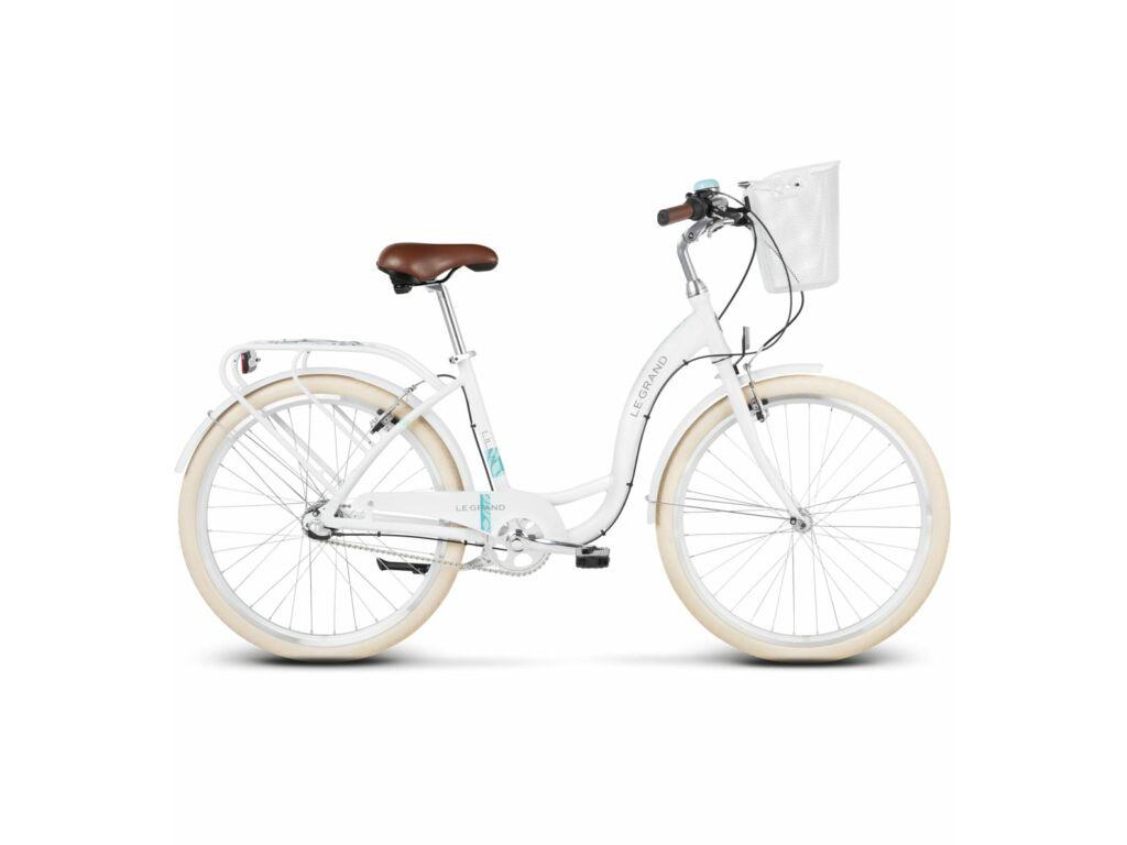 Le Grand Lille 3 D 26 M White Glossy női városi kerékpár