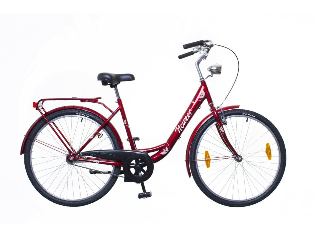 NEUZER Balaton 26 1S női városi kerékpár, bordó / barna-fehér