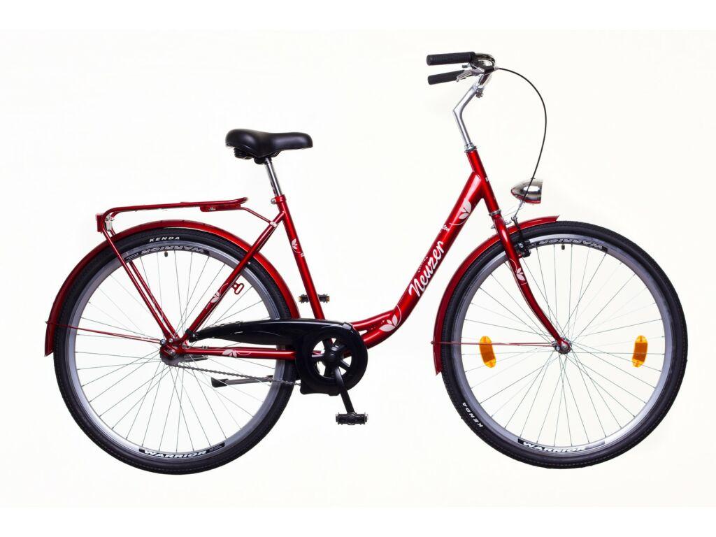 NEUZER Balaton 28 1S női városi kerékpár, bordó / fehér