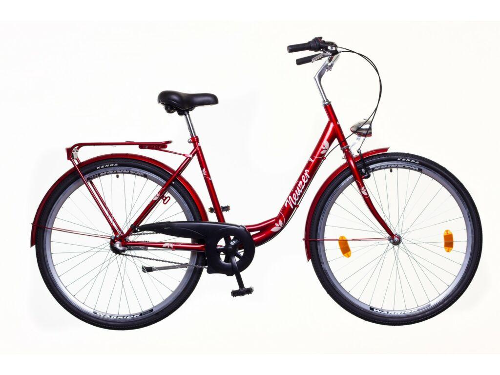NEUZER Balaton 28 N3 női városi kerékpár, bordó / barna-fehér