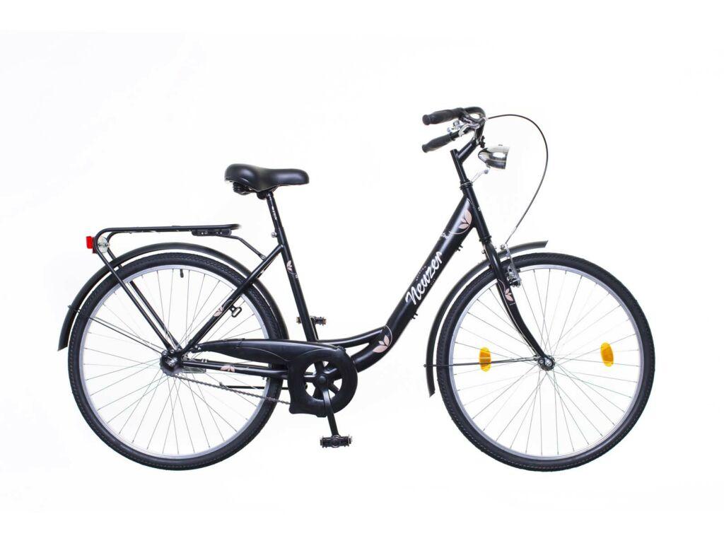 NEUZER Balaton Eco 26 1S városi kerékpár, fekete