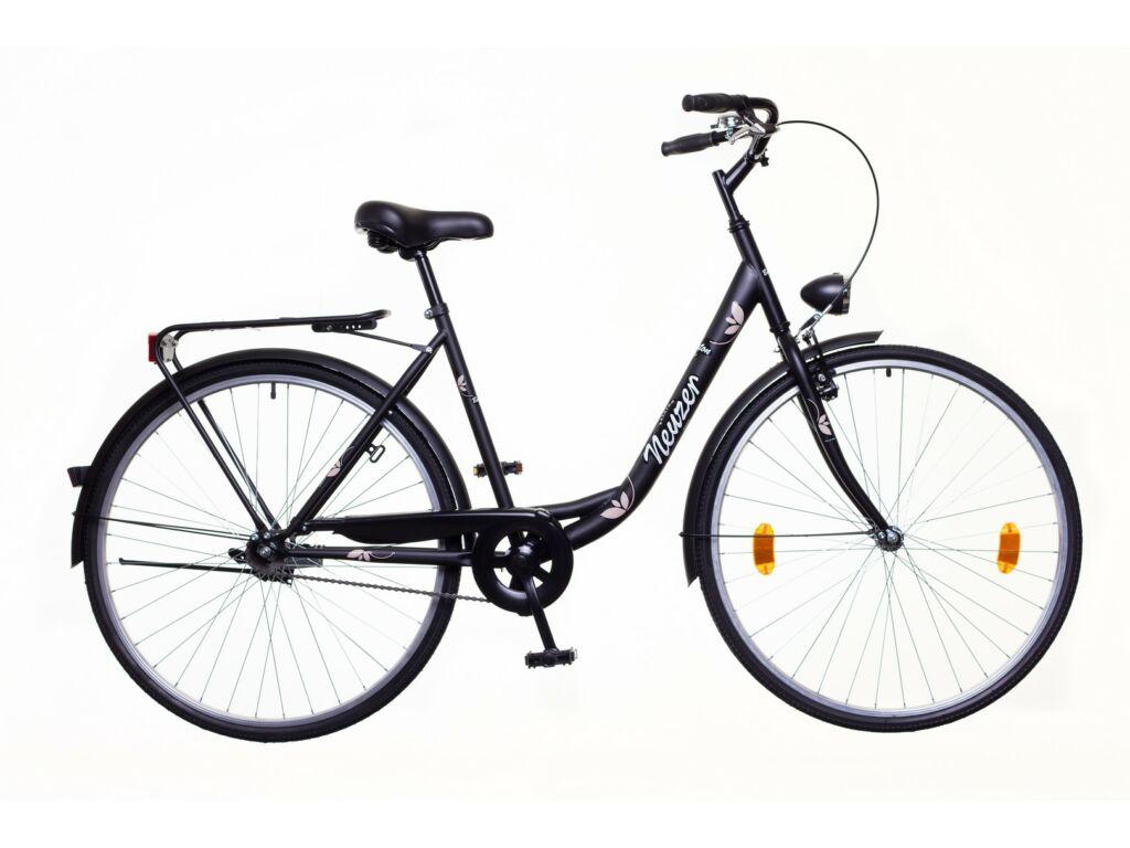 NEUZER Balaton Eco 28 1S városi kerékpár, fekete