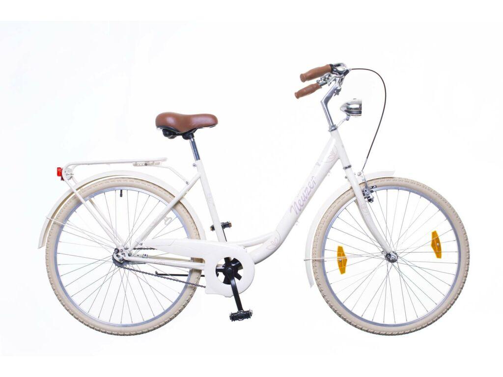 NEUZER Balaton Premium 26 1S női városi kerékpár, krém / barna-barna