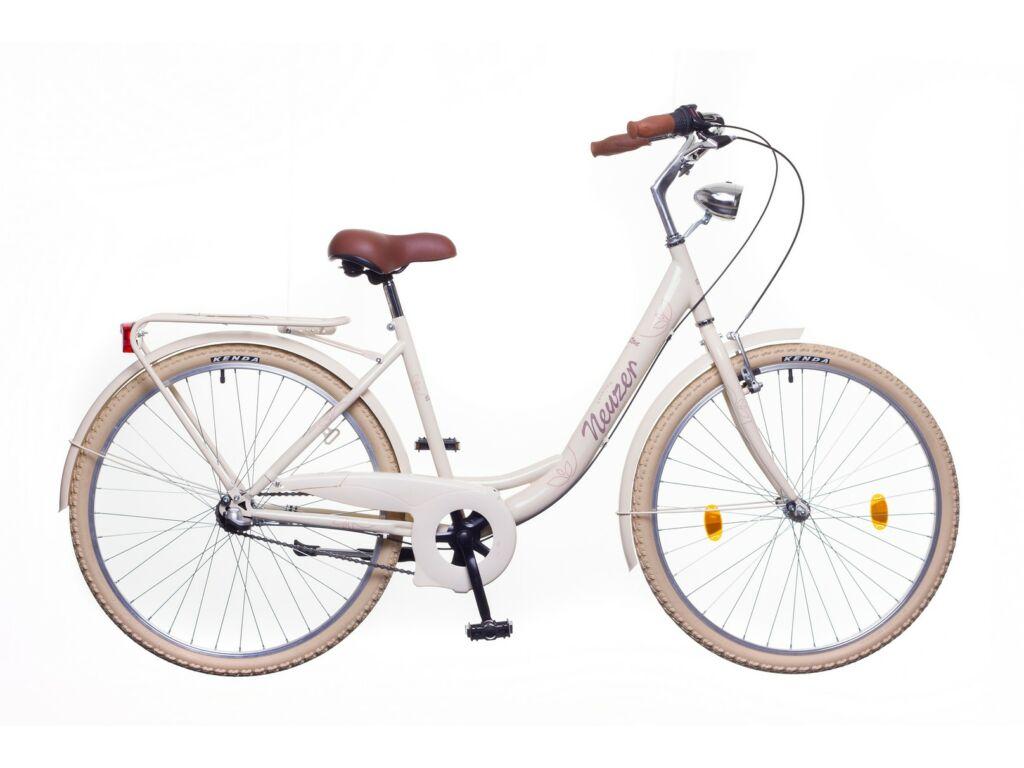 NEUZER Balaton Premium 26 N3 női városi kerékpár, krém / barna-barna