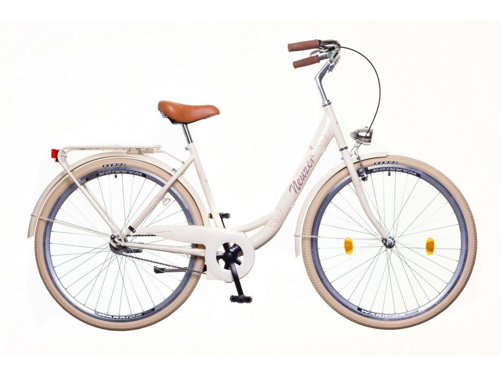 NEUZER Balaton Premium 28 1S női városi kerékpár, krém / barna-barna