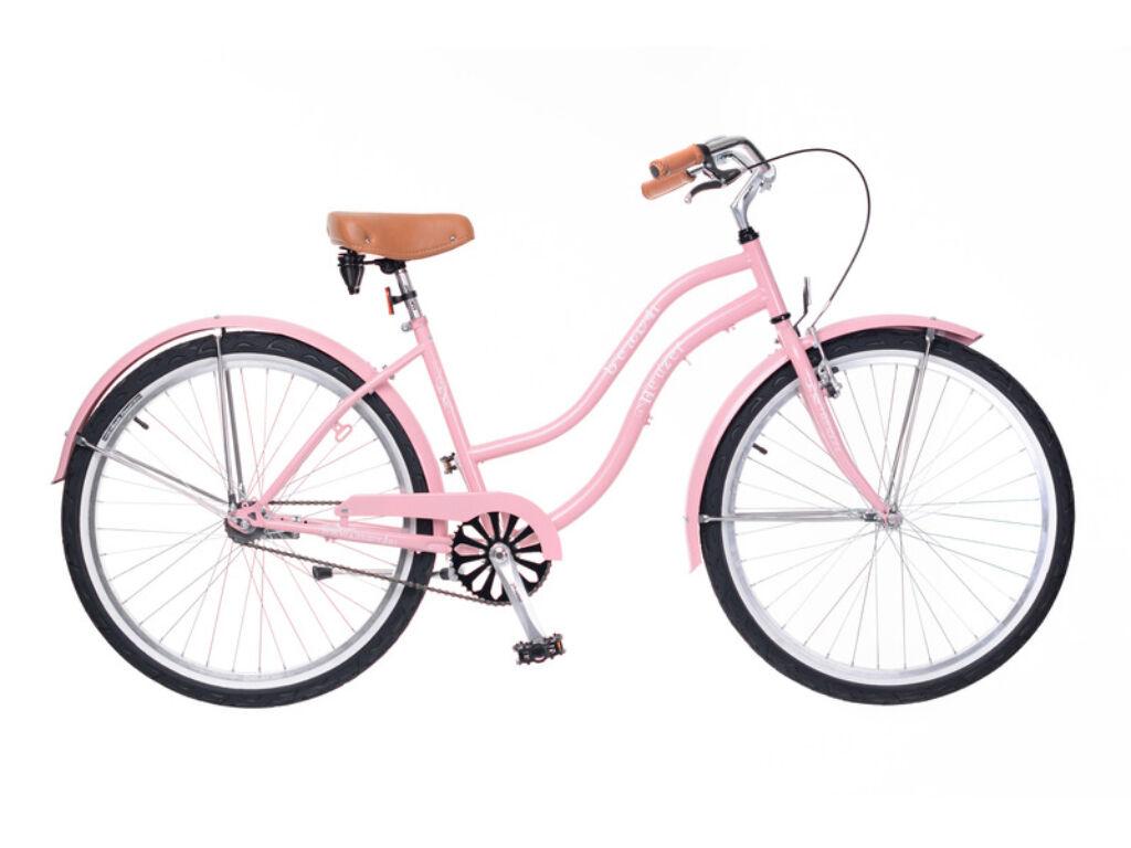 NEUZER Beach női városi / cruiser kerékpár, rózsa