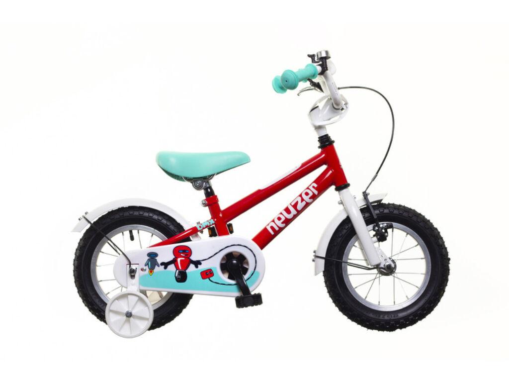 NEUZER BMX 12 fiú gyerek kerékpár, piros / fehér-türkiz