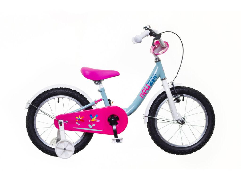 NEUZER BMX 16 lány gyerek kerékpár, pisztácia / fehér-pink