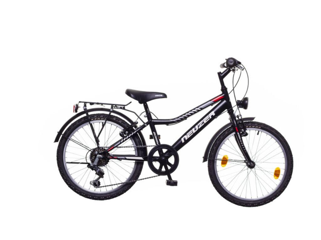 NEUZER BOBBY 20 CITY gyerek MTB kerékpár, fekete / szürke-piros