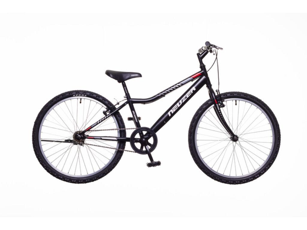 NEUZER BOBBY 24 1S gyerek MTB kerékpár, fekete / szürke-piros