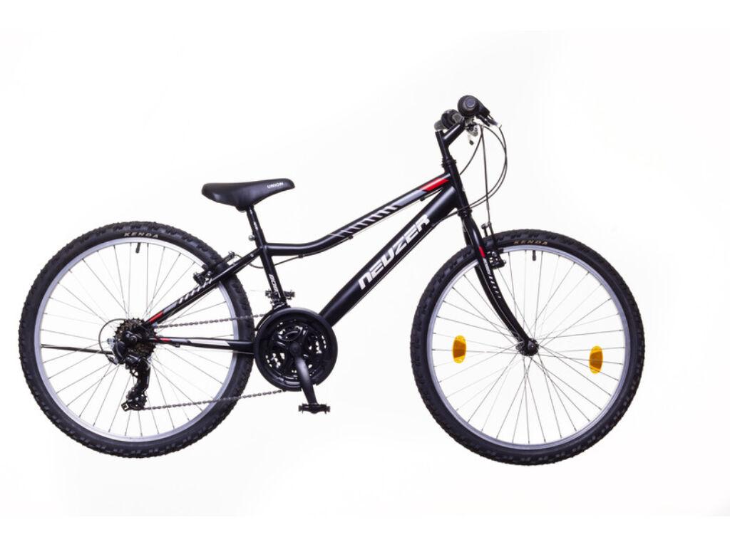 NEUZER BOBBY 24 CITY gyerek MTB kerékpár, fekete / szürke-piros