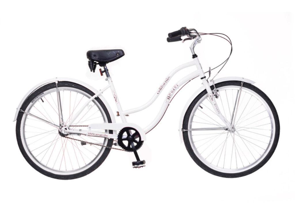 NEUZER California Eco női városi / cruiser kerékpár, fehér
