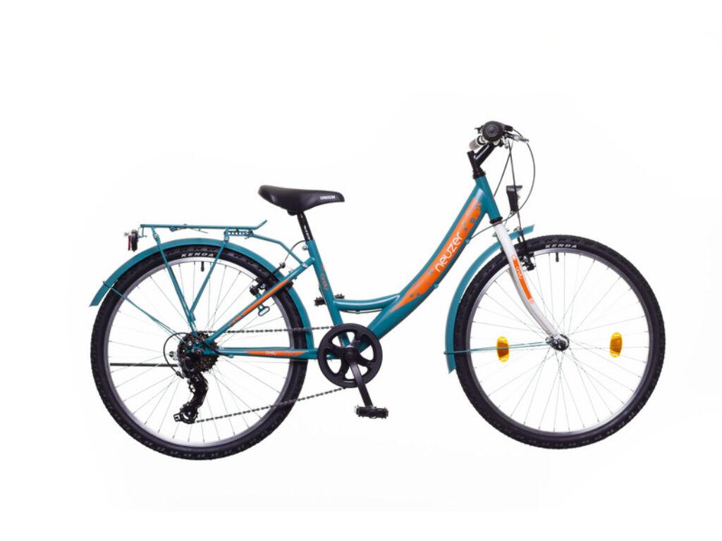 NEUZER CINDY 24 CITY gyerek MTB kerékpár, türkiz / fehér-sárga