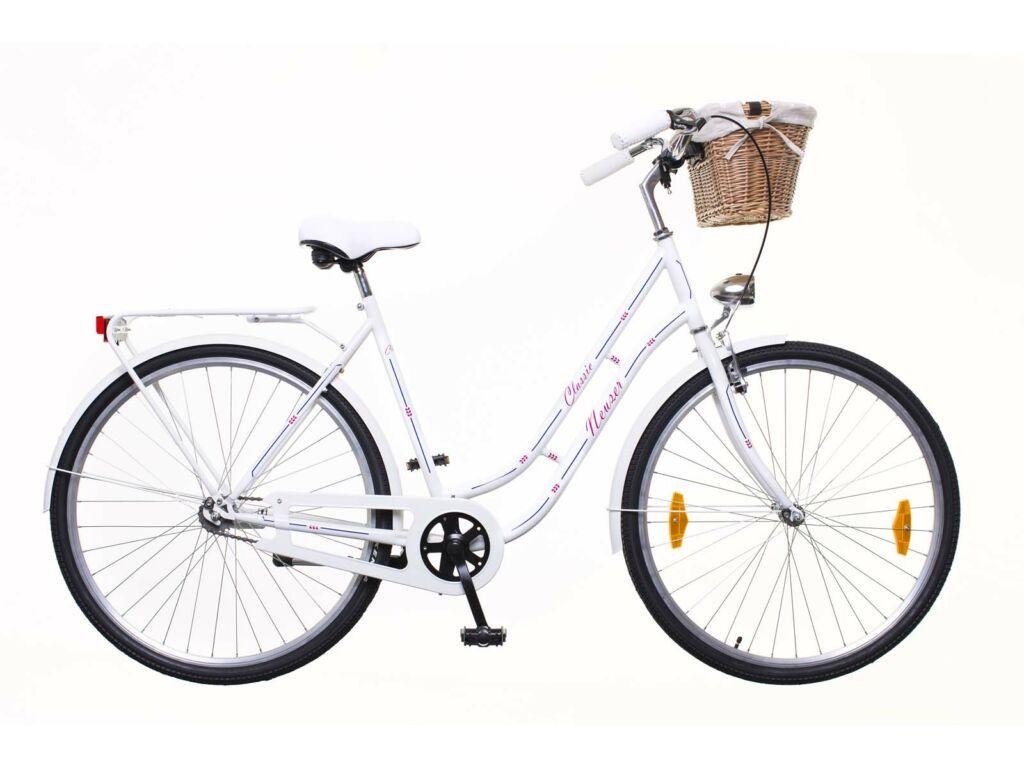 NEUZER Classic Premium 28 1S városi kerékpár, fehér / kék-piros