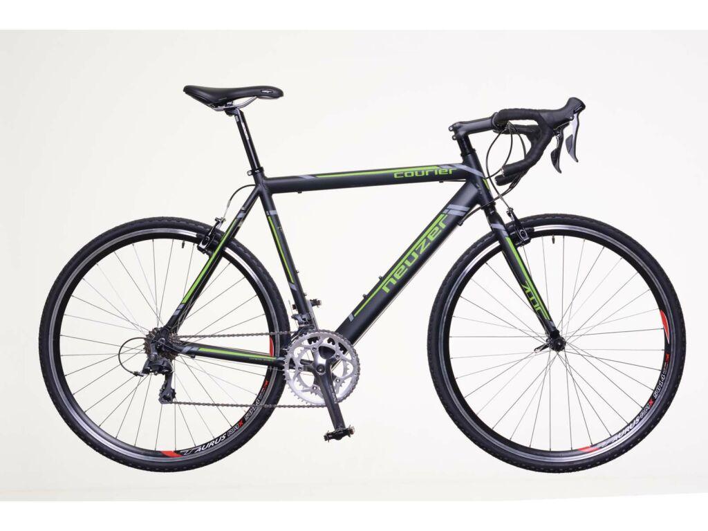 NEUZER Courier CX országúti cyclocross kerékpár, fekete / zöld-szürke (matt)
