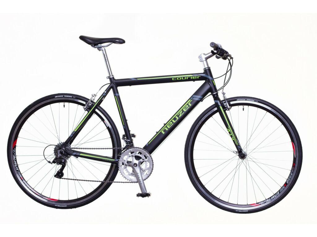 NEUZER Courier DT fitness kerékpár, fekete / zöld-szürke (matt)