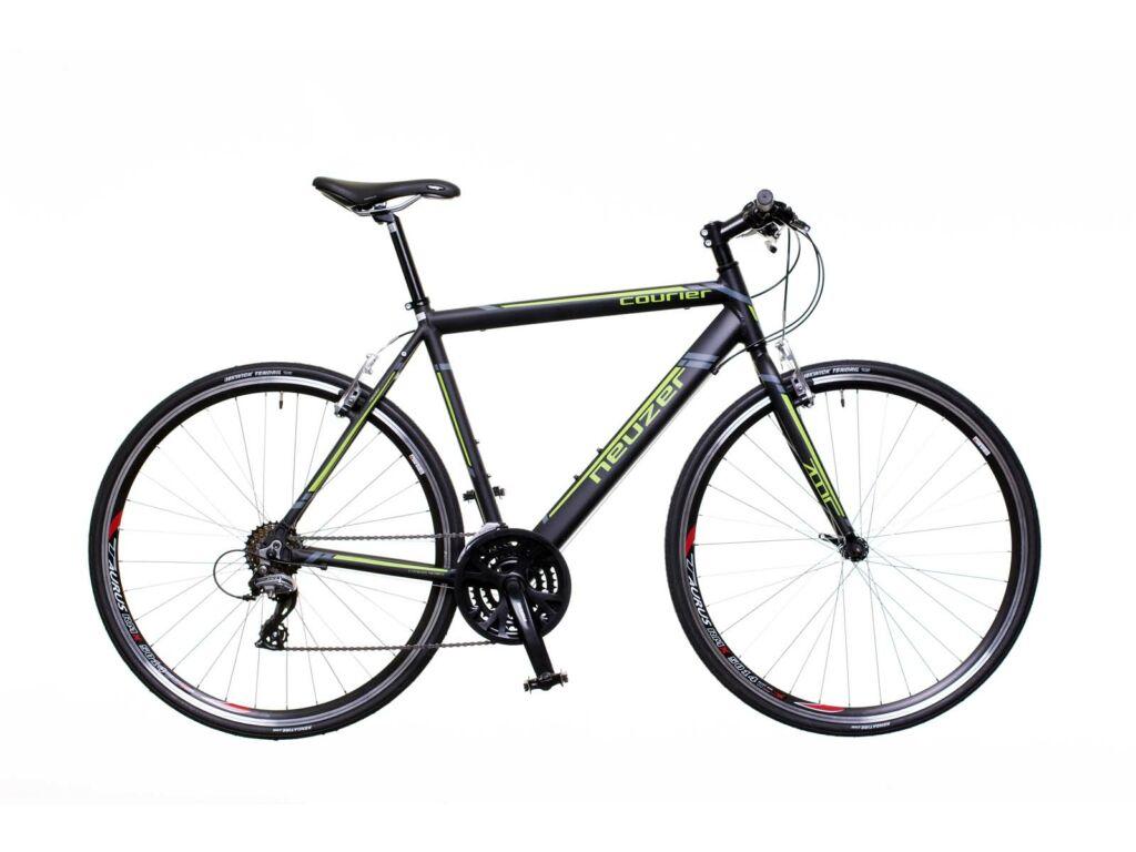 NEUZER Courier fitness kerékpár, fekete / zöld-szürke (matt)