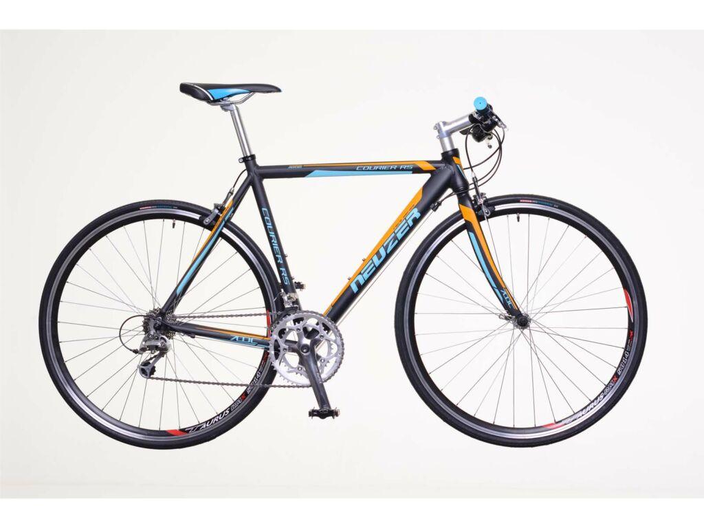NEUZER Courier RS fitness kerékpár, fekete / cián-narancs