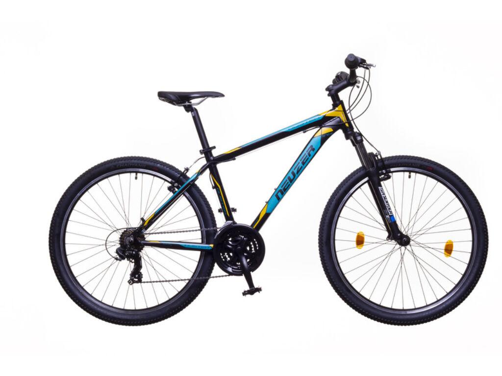 NEUZER Duster Hobby férfi MTB hardtail kerékpár, fekete / türkiz-sárga