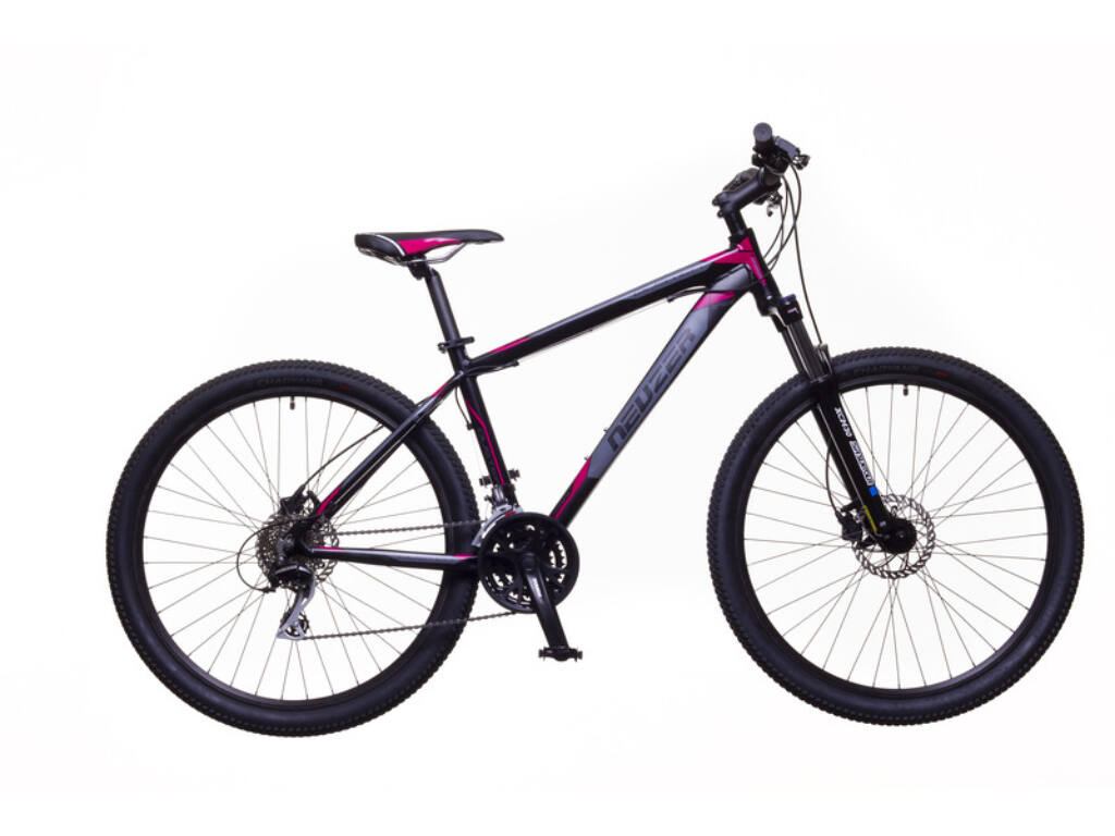 NEUZER Duster Sport Hydr MTB hardtail kerékpár, fekete / pink-szürke