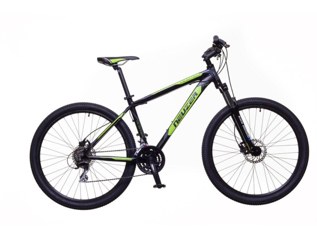 NEUZER Duster Sport Hydr férfi MTB hardtail kerékpár, fekete / zöld-szürke