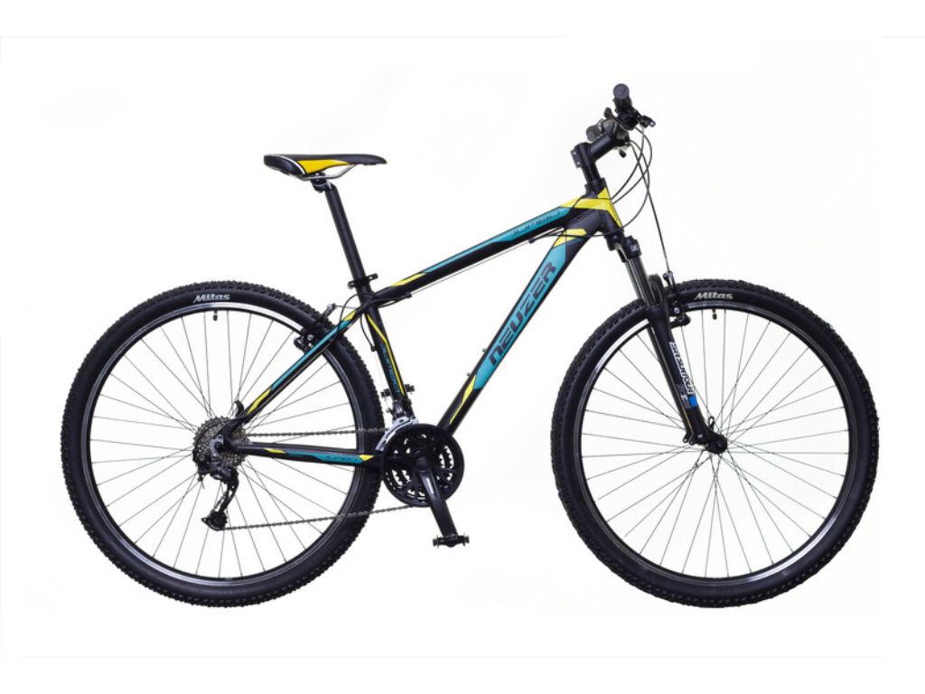 NEUZER Duster Sport férfi MTB hardtail kerékpár, fekete / türkiz-sárga