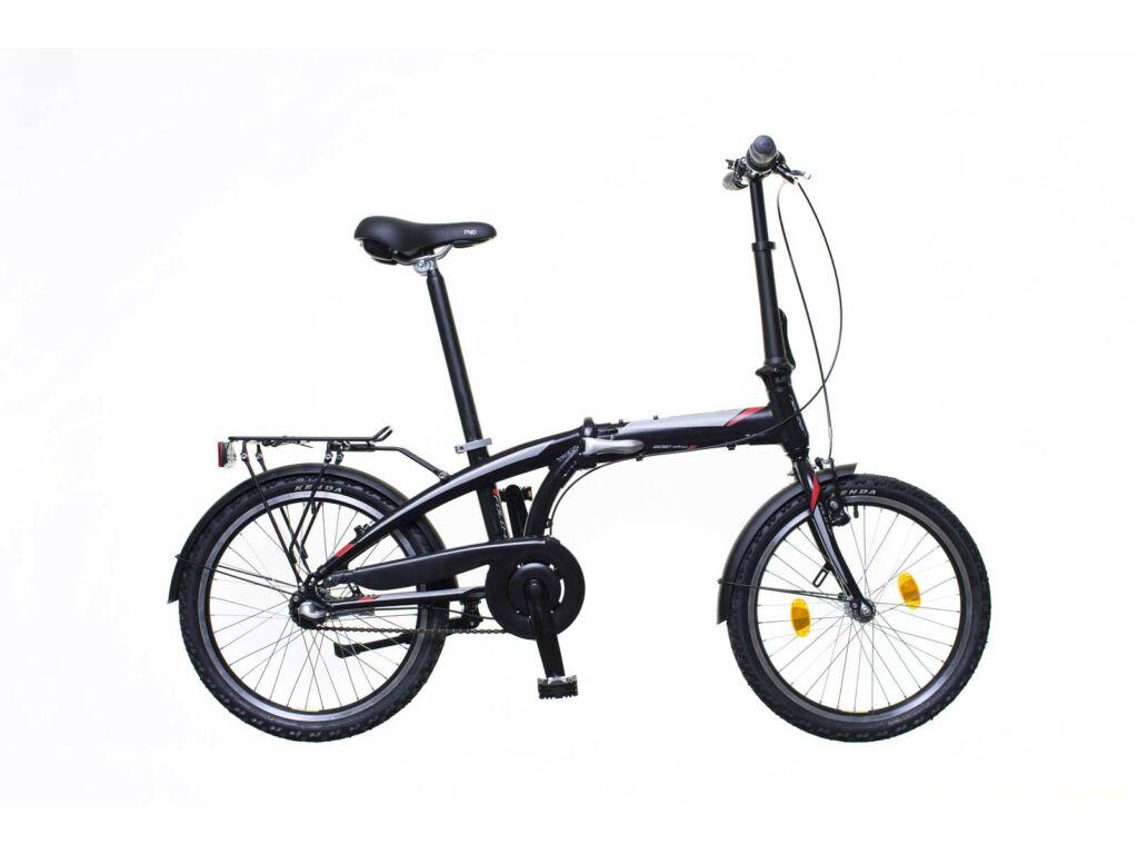 NEUZER Folding Fold-up városi összecsukható kerékpár, fekete / szürke-piros