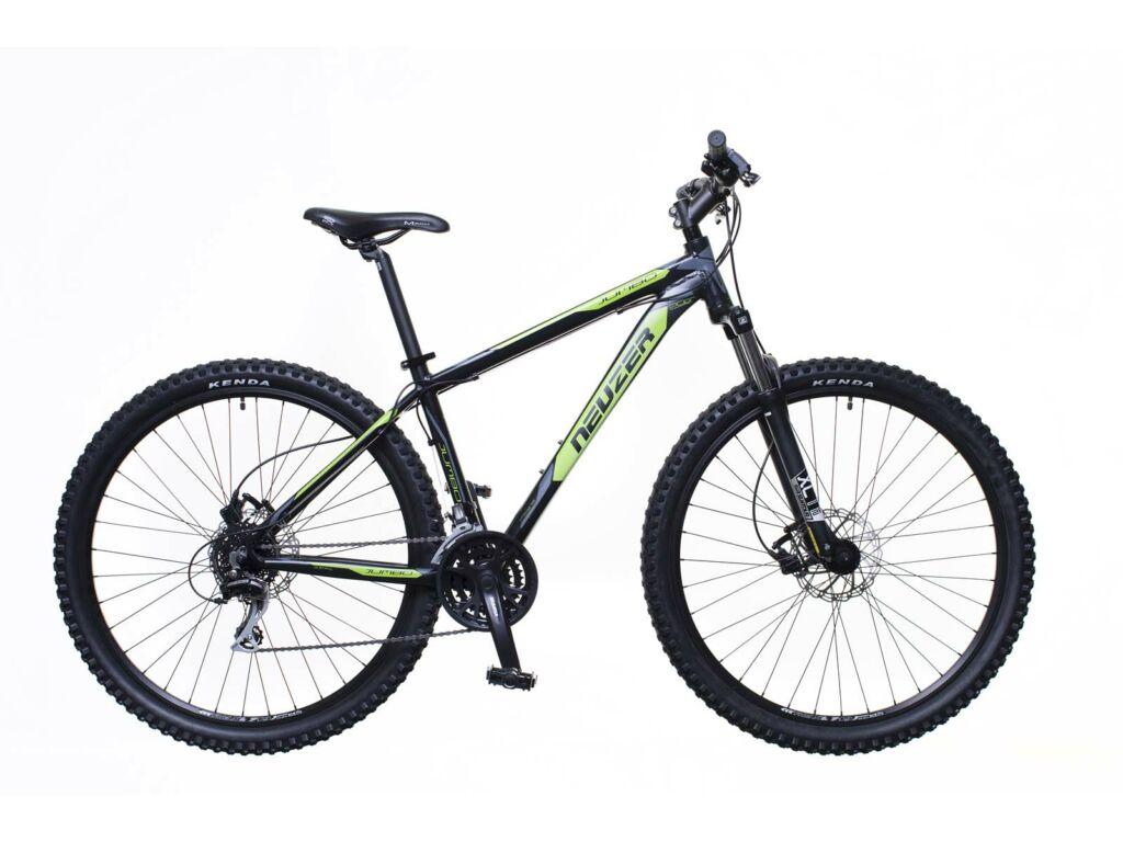NEUZER Jumbo Sport Hydr férfi MTB hardtail kerékpár, fekete / zöld-szürke