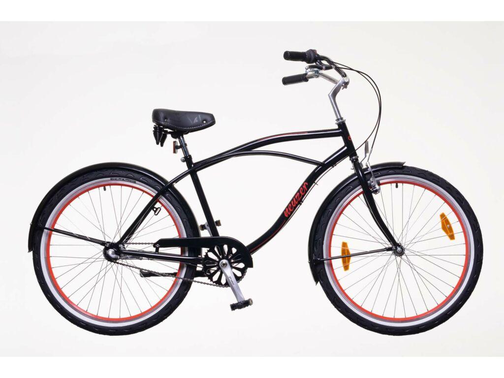 NEUZER Miami férfi városi / cruiser kerékpár, fekete / piros