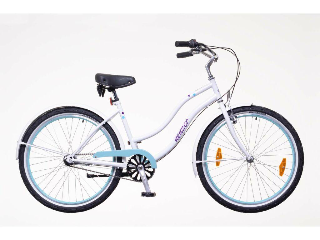 NEUZER Miami női városi / cruiser kerékpár, fehér / pöttyös