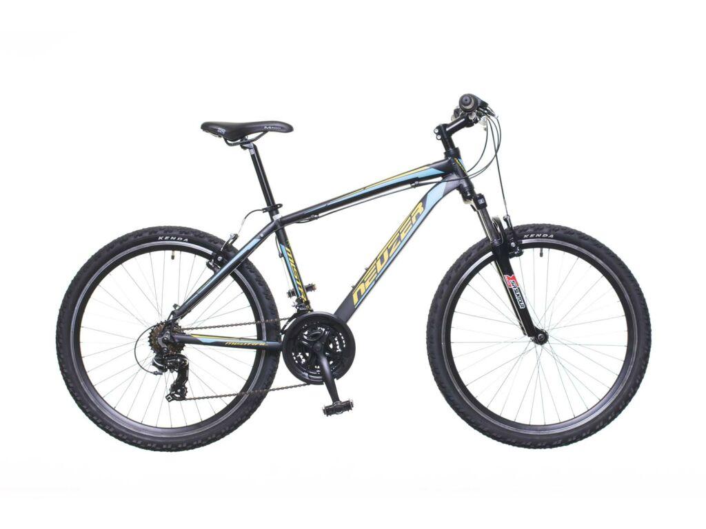 NEUZER Mistral 30 férfi MTB kerékpár, teleszkópos, fekete / sárga-türkiz
