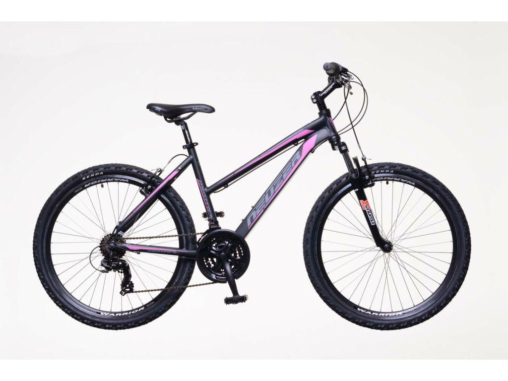 NEUZER Mistral 30 női MTB kerékpár, teleszkópos, fekete / pink-szürke