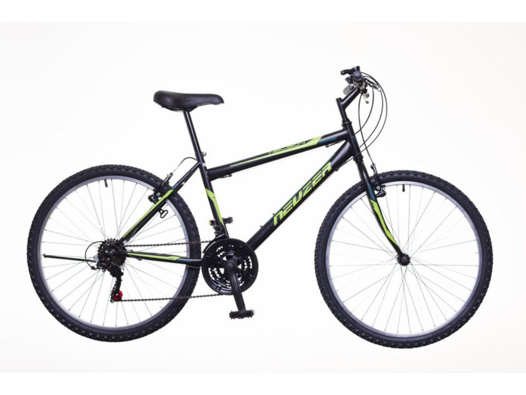 NEUZER Nelson 18 férfi MTB kerékpár, fekete / neonzöld