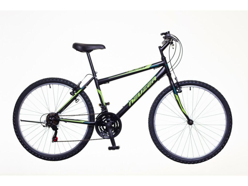 NEUZER Nelson 18 férfi MTB kerékpár, fekete / neonzöld-zöld