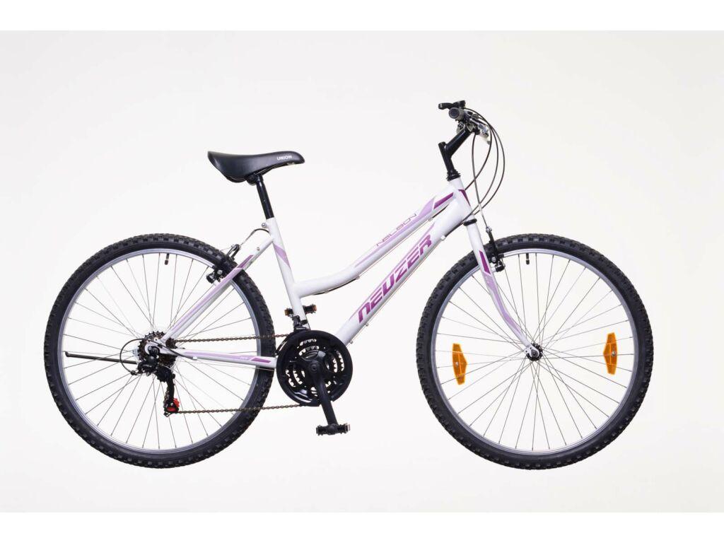 NEUZER Nelson 18 női MTB kerékpár, fehér / bíbor-mályva