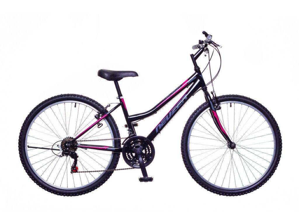 NEUZER Nelson 18 női MTB kerékpár, fekete / szürke-pink